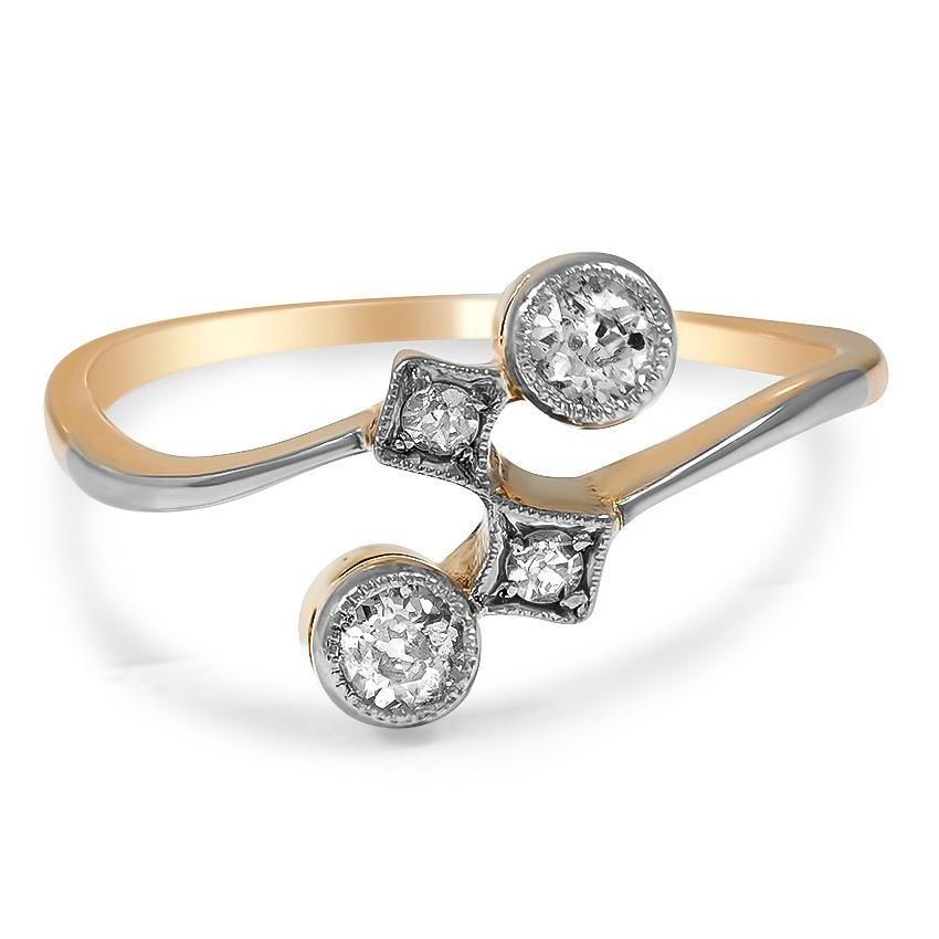 The Melynda Ring, top view