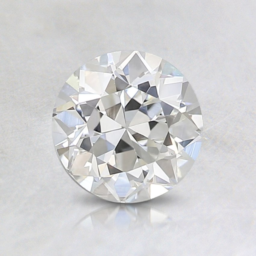0.52 Carat, J Color, SI1 Clarity, Round Old European Cut Diamond