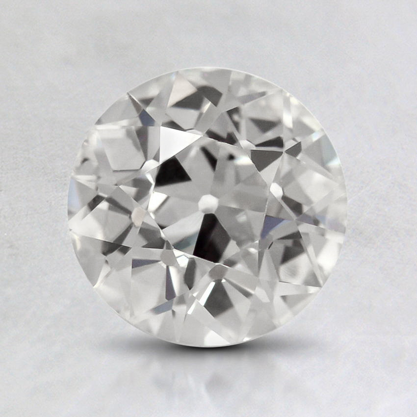 1.12 Carat, F Color, VS2 Clarity, Round Old European Cut Diamond, top view