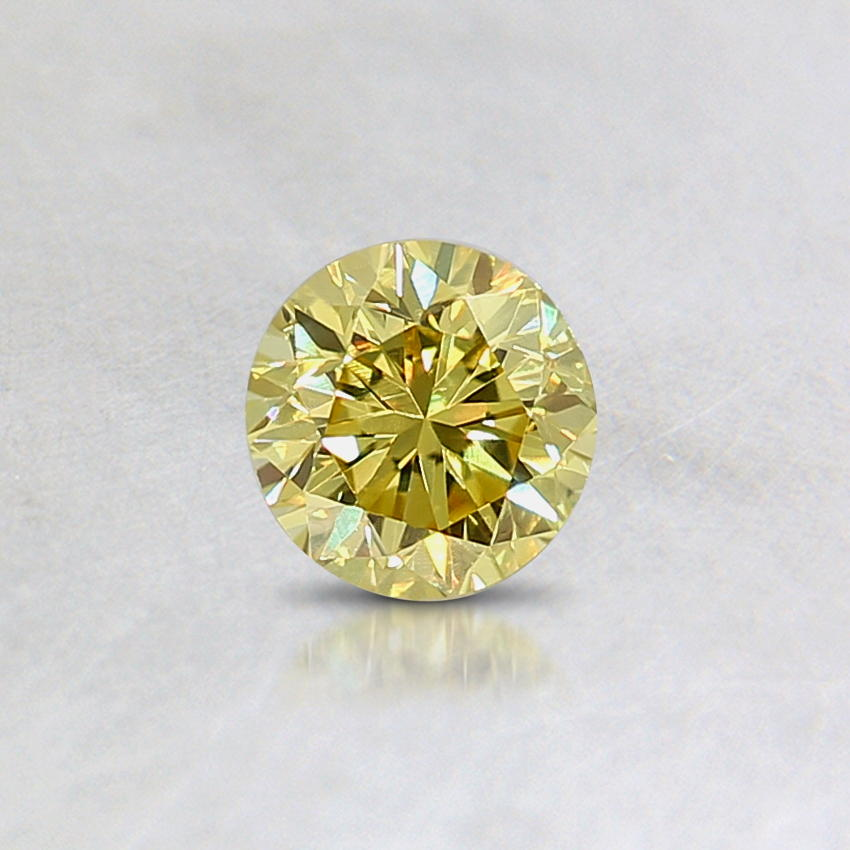 0.29 Ct. Natural Fancy Vivid Yellow Round Diamond