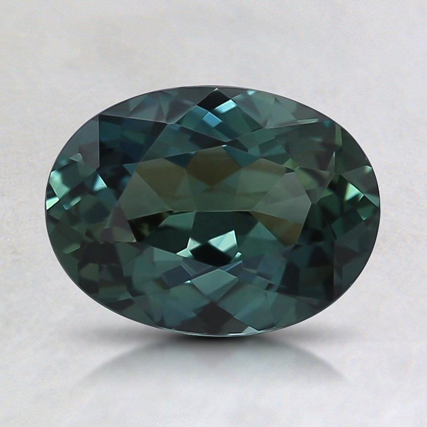 8x6mm Unheated Oval Teal Sapphire