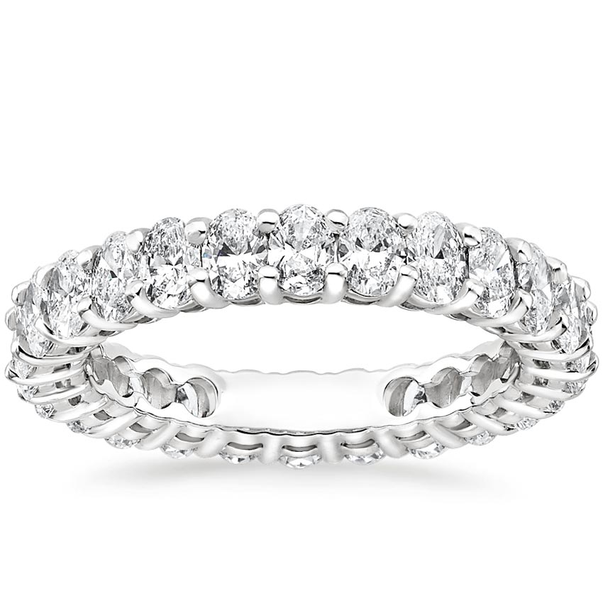 Oval Eternity Diamond Ring (2 ct. tw.) in 18K White Gold