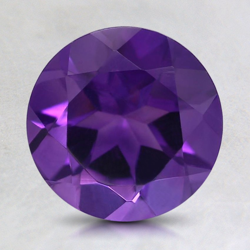 8mm Fine Round Amethyst, top view