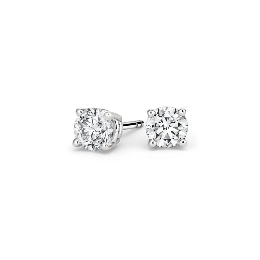 Round Diamond Stud Earrings (3/4 ct. tw.) in 18K White Gold