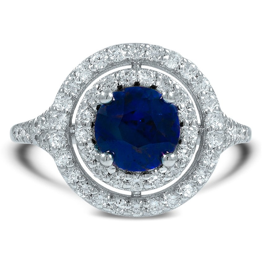 Modern Sapphire Cocktail Ring