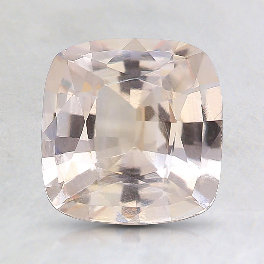 7.1x6.9mm Unheated Peach Cushion Sapphire