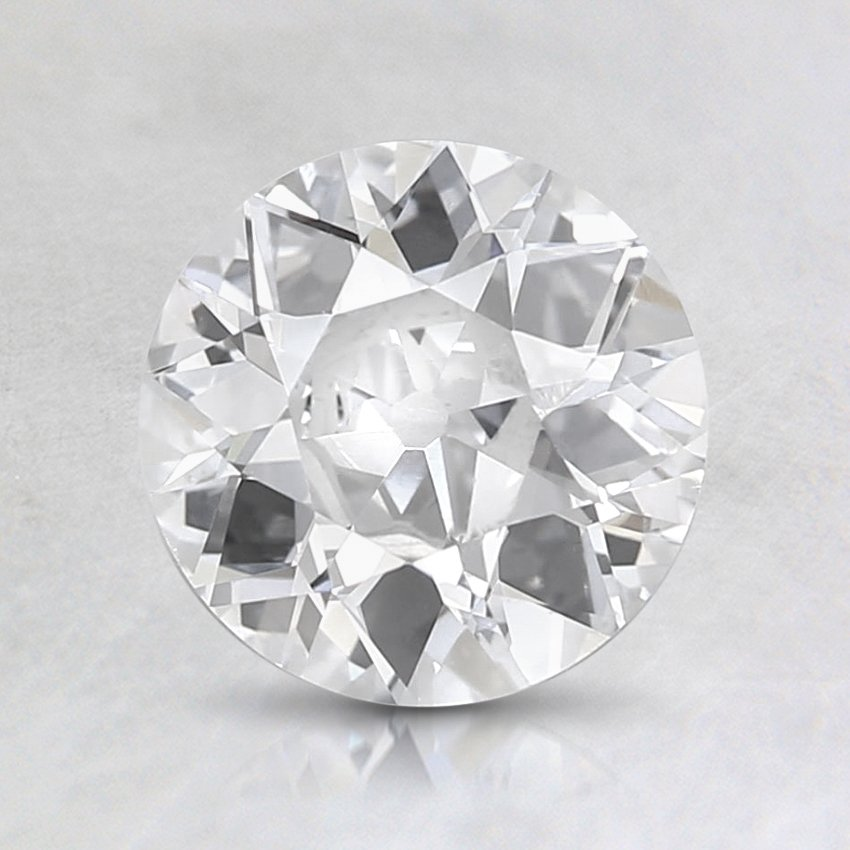 1.06 Ct., D Color, SI2 Clarity, Round Old European Cut Diamond