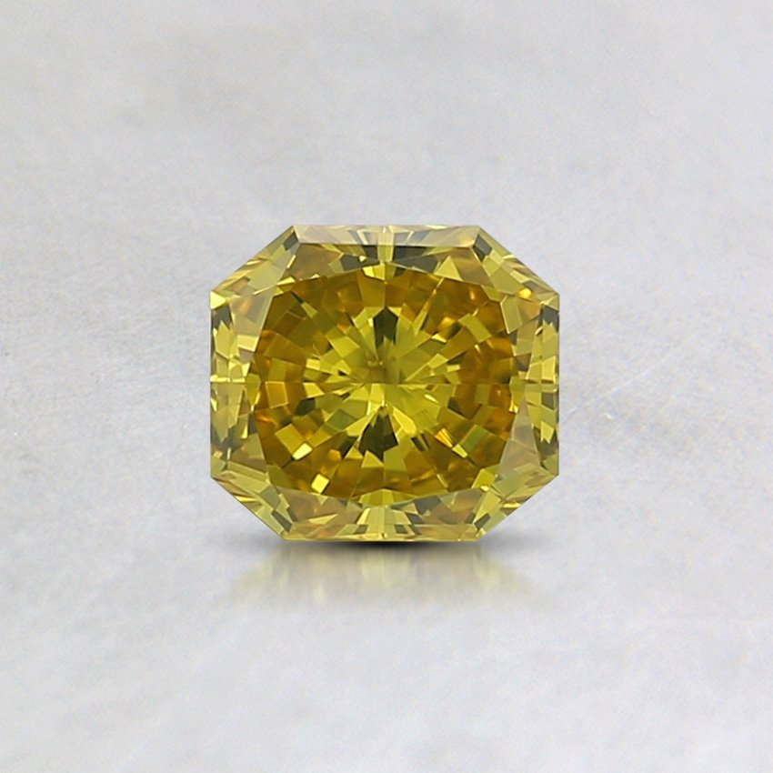 0.35 Ct. Fancy Intense Yellow Radiant Lab Created Diamond