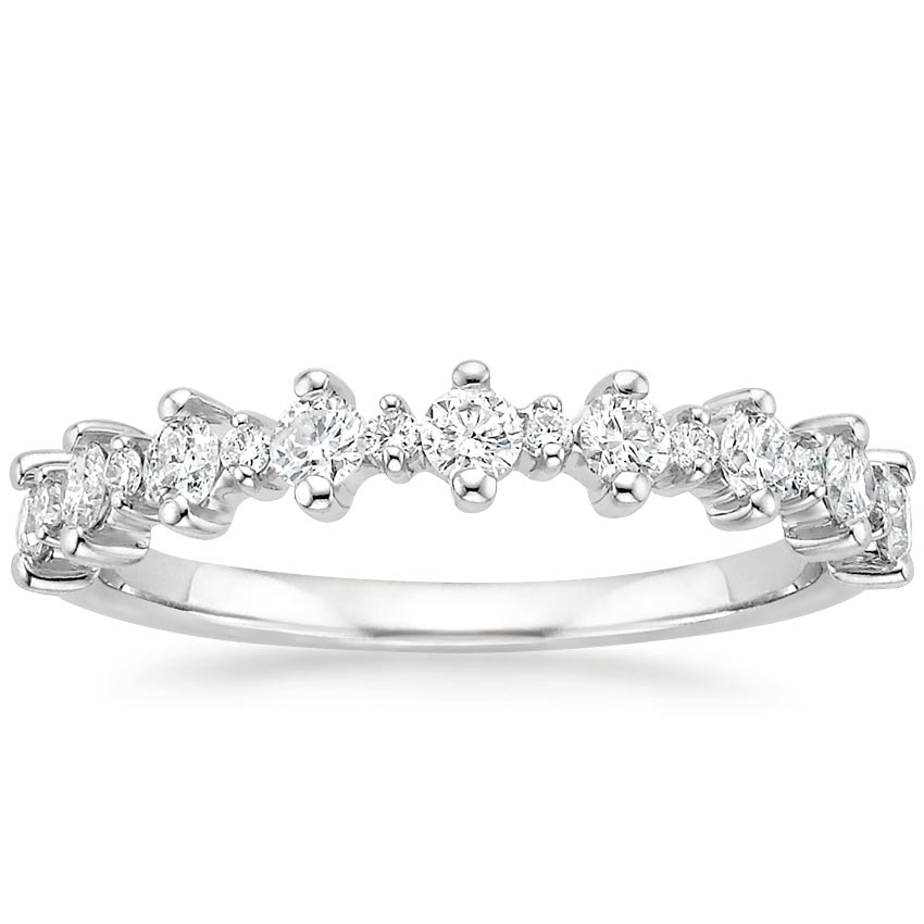 Empress Diamond Ring in 18K White Gold