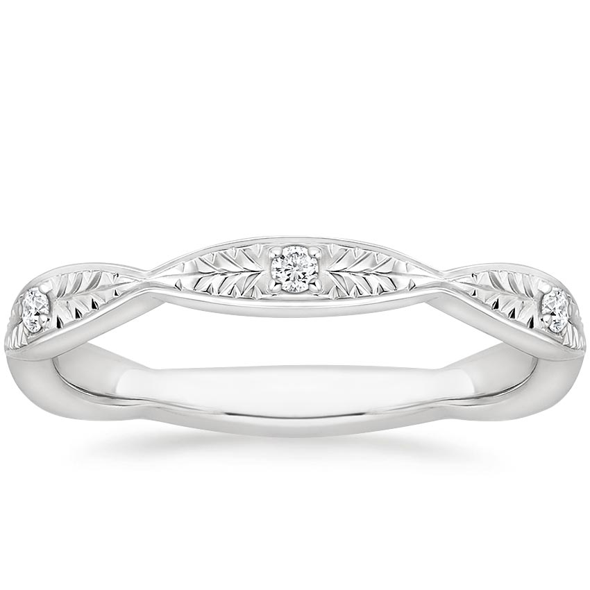 Hand Engraved Diamond Ring