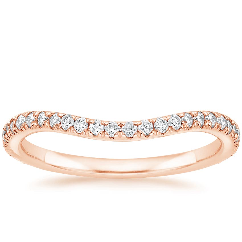 Rose Gold Ava Contoured Diamond Ring (1/4 ct. tw.)