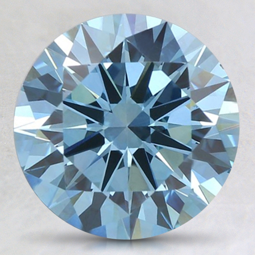 2.60 Ct. Fancy Intense Blue Round Lab Created Diamond