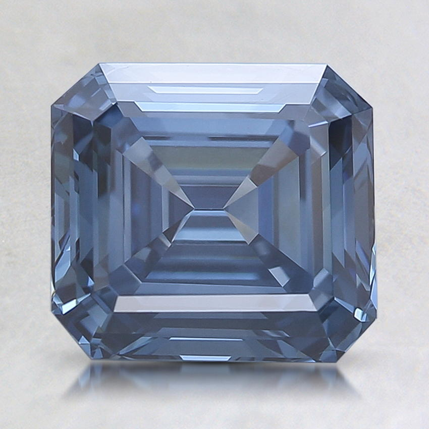 2.17 Ct. Fancy Deep Blue Emerald Cut Lab Created Diamond