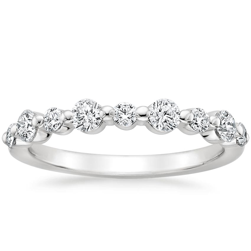 Floating Shared Prong Diamond Ring