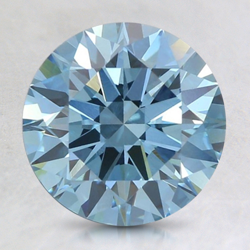 2.15 Ct. Fancy Intense Blue Round Lab Created Diamond
