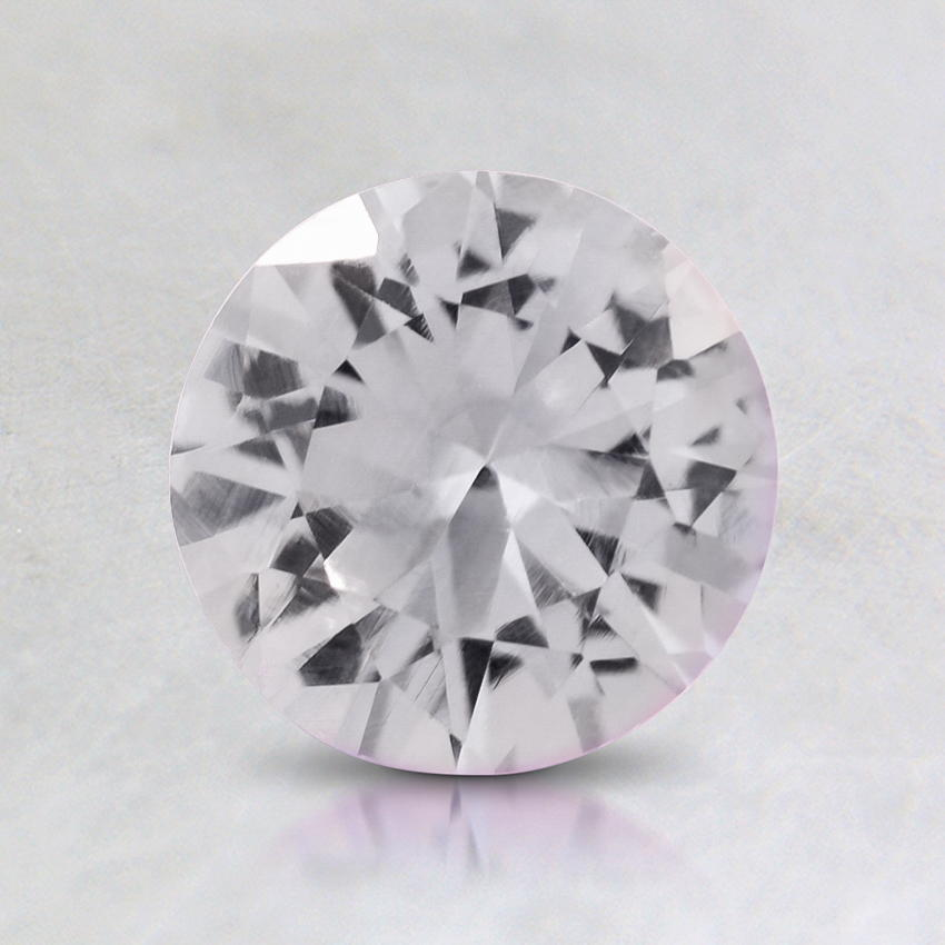 6.5mm White Round Sapphire, top view