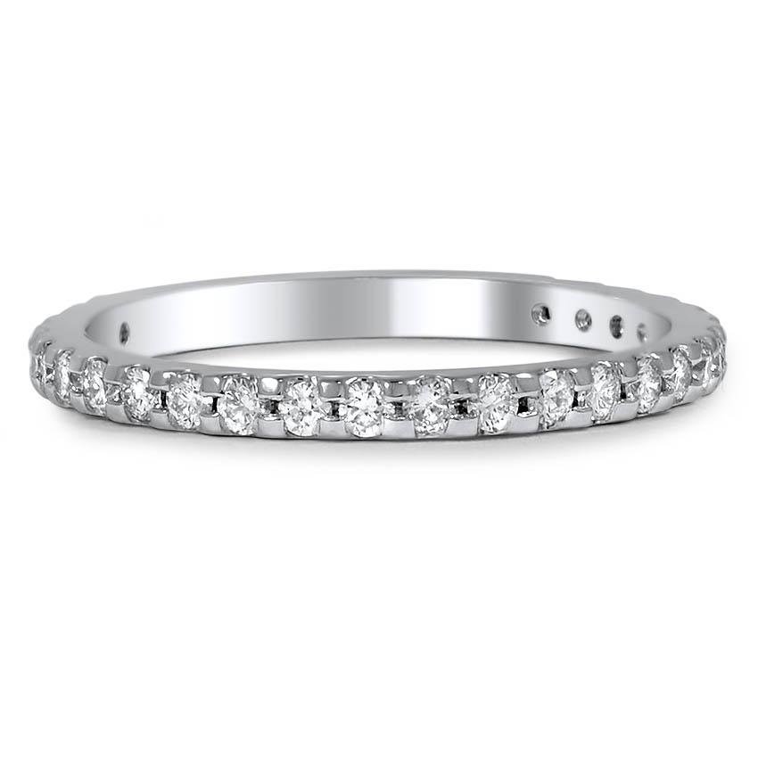 custom scalloped pavé set diamond wedding band brilliant earth