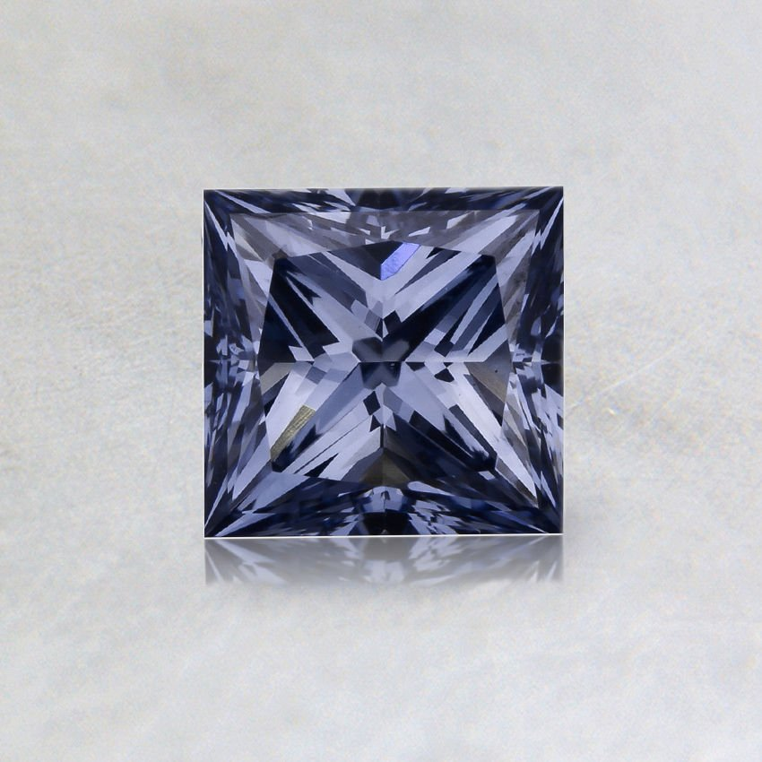 0.61 ct. Lab Created Fancy Intense Blue Princess Diamond