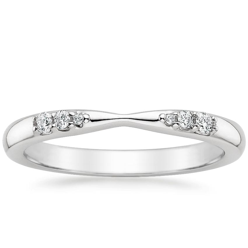 Tapered Diamond Wedding Band