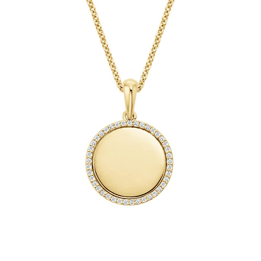 Disc Diamond Pendant