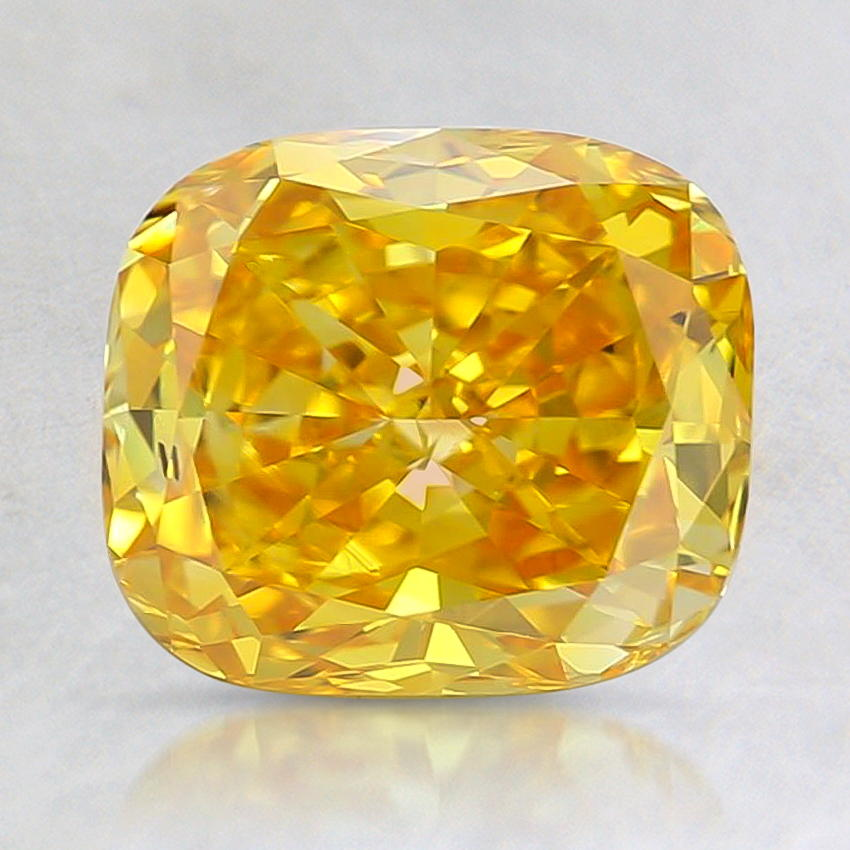 1.80 Ct. Fancy Vivid Yellow Cushion Lab Created Diamond