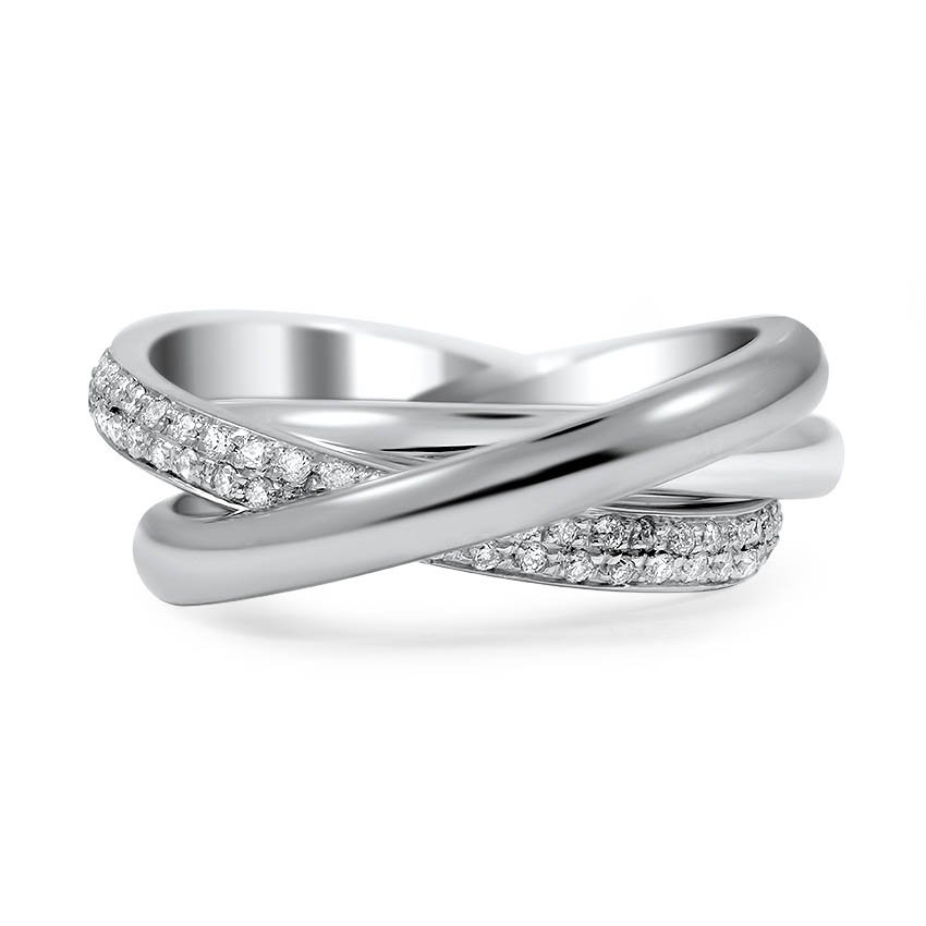 Best Custom Engagement Rings Chicago: Custom Diamond Entwined Trio Ring