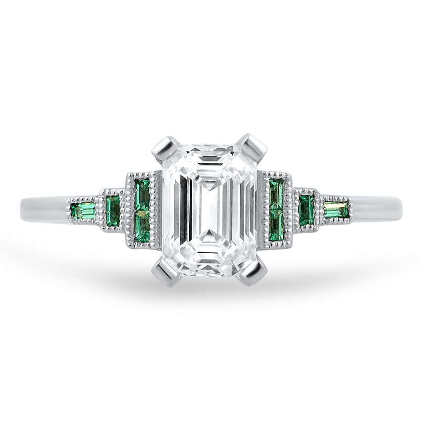 Top Twenty Custom Rings - EMERALD-CUT DIAMOND DECO RING