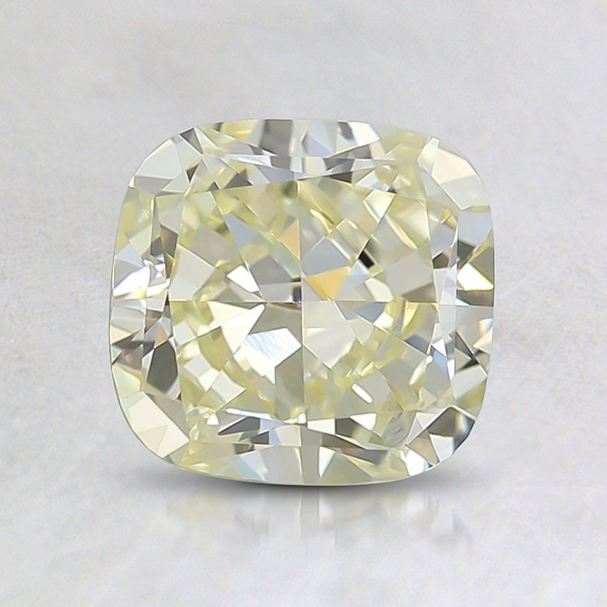 1.27 Ct. Fancy Light Yellow Cushion Diamond