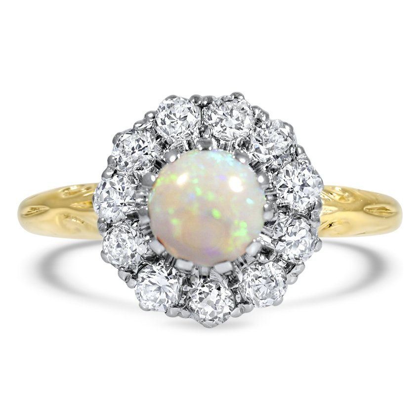 Edwardian Opal Cocktail Ring