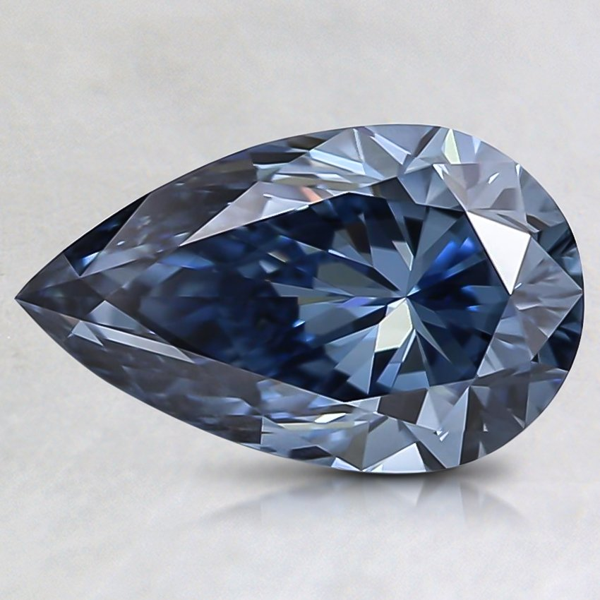 1.27 Ct. Fancy Vivid Blue Pear Lab Created Diamond