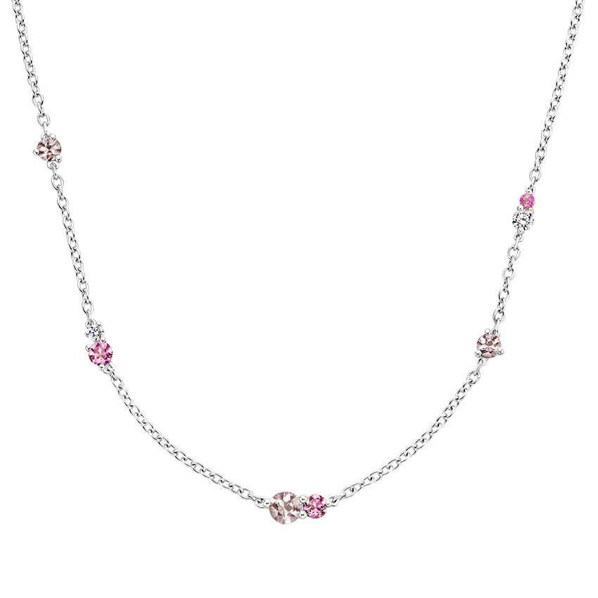 Pink Gemstone Tonal Necklace