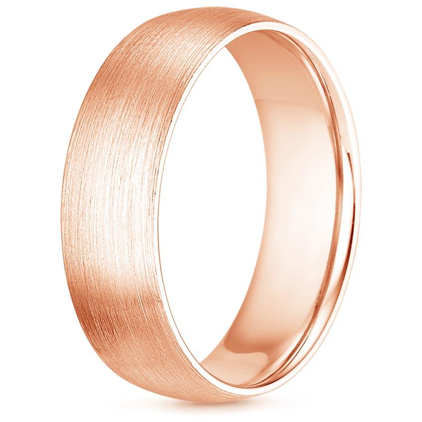 6mm Matte Comfort Fit Wedding Ring In 14k Rose Gold