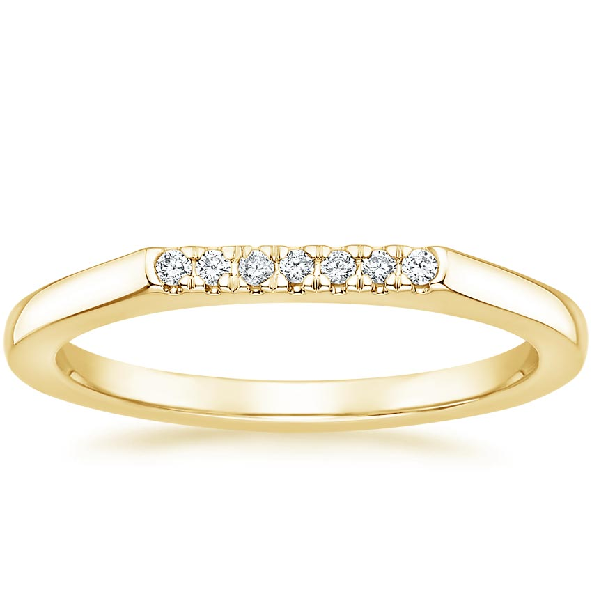 Yellow Gold Luz Diamond Ring