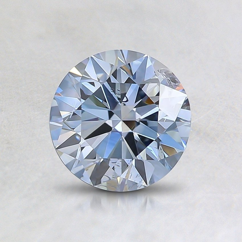 0.83 Ct. Fancy Blue Round Lab Created Diamond