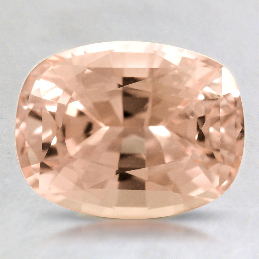 9x7mm Peach Cushion Sapphire, top view