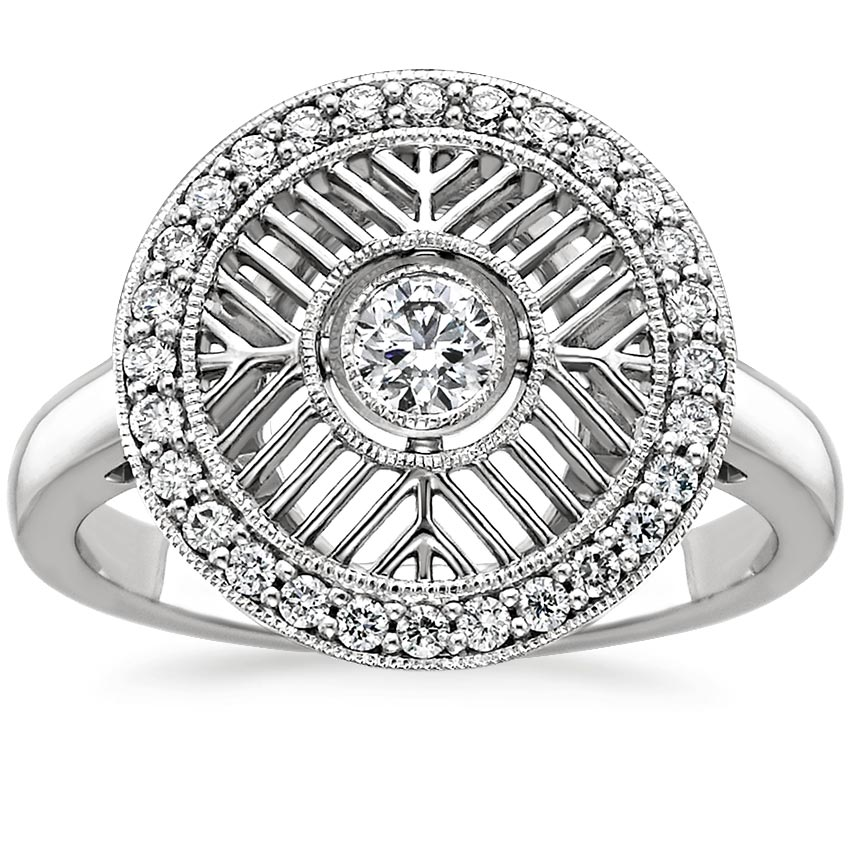 Lattice Diamond Ring
