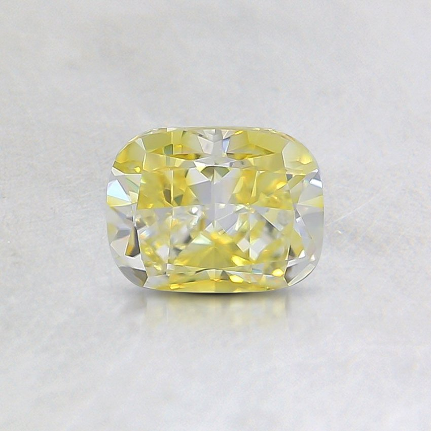 0.53 Ct. Fancy Intense Yellow Cushion Diamond