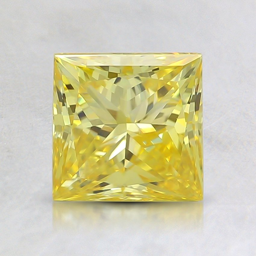 1.20 Ct. Fancy Vivid Yellow Princess Lab Created Diamond