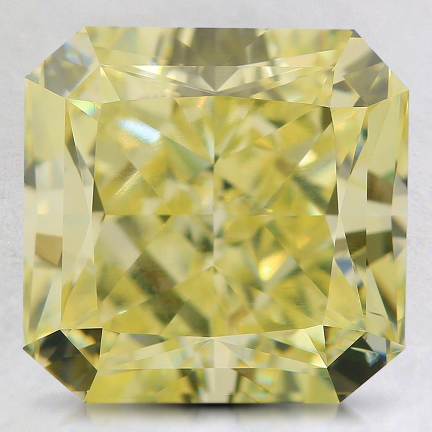 4.02 Ct. Natural Fancy Yellow Radiant Diamond