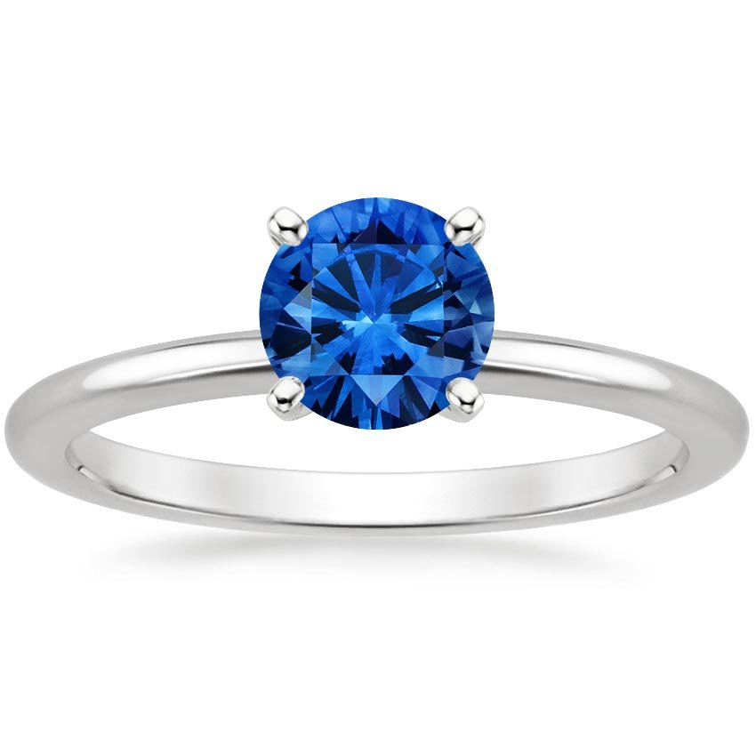 Top Twenty Sapphire Rings - FOUR-PRONG SAPPHIRE PETITE COMFORT FIT RING