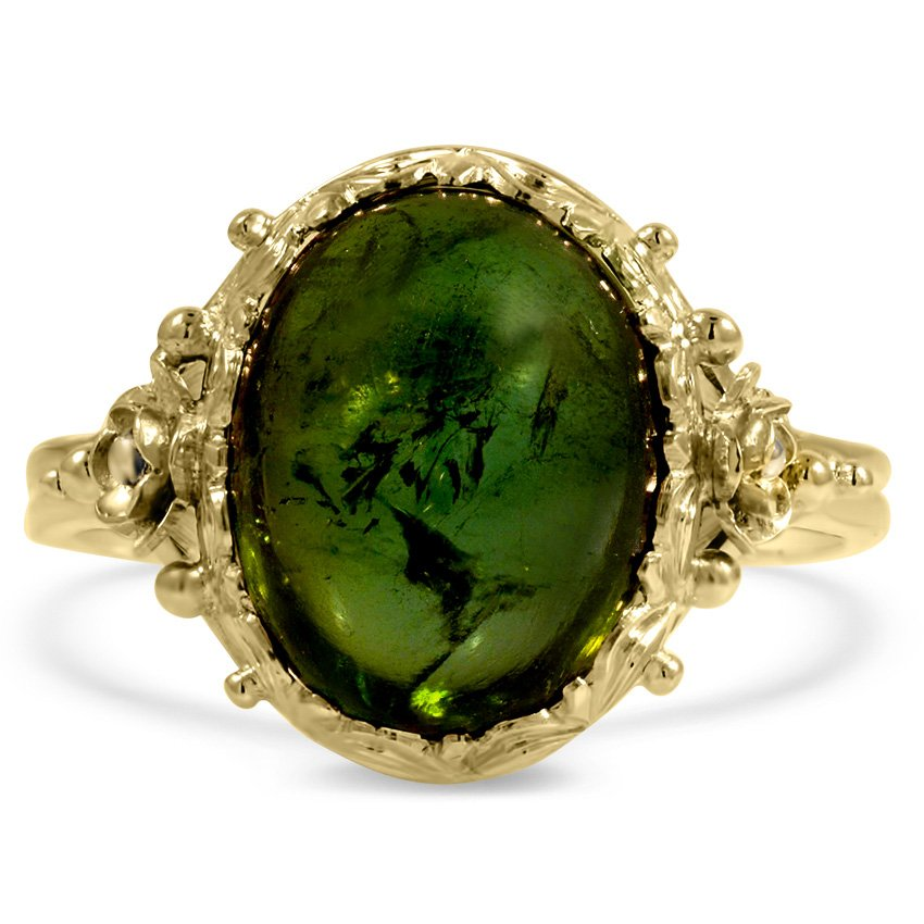 Art Nouveau Tourmaline Vintage Ring