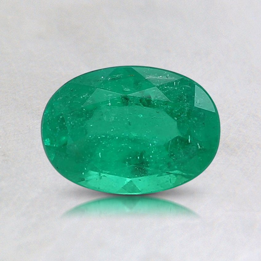 7X5mm Oval Emerald, top view
