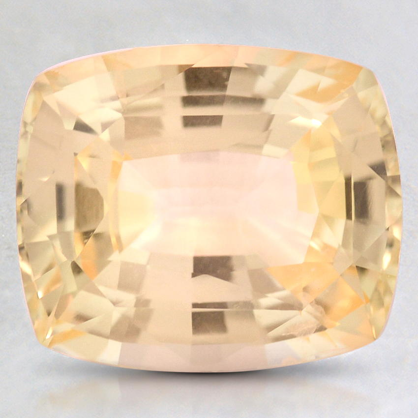 9.5x8.0mm Unheated Premium Yellow Cushion Sapphire