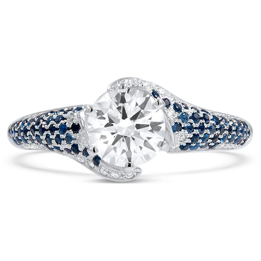 Top Twenty Custom Rings - PAVÉ SAPPHIRE DIAMOND RING
