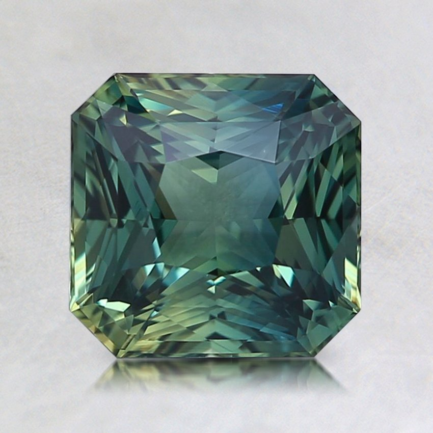 6.8x6.7mm Teal Radiant Sapphire