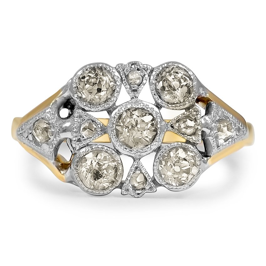 The Marlana Ring, top view
