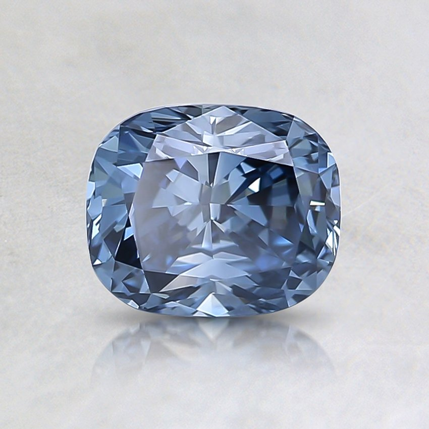 0.81 Ct. Fancy Vivid Blue Cushion Lab Created Diamond