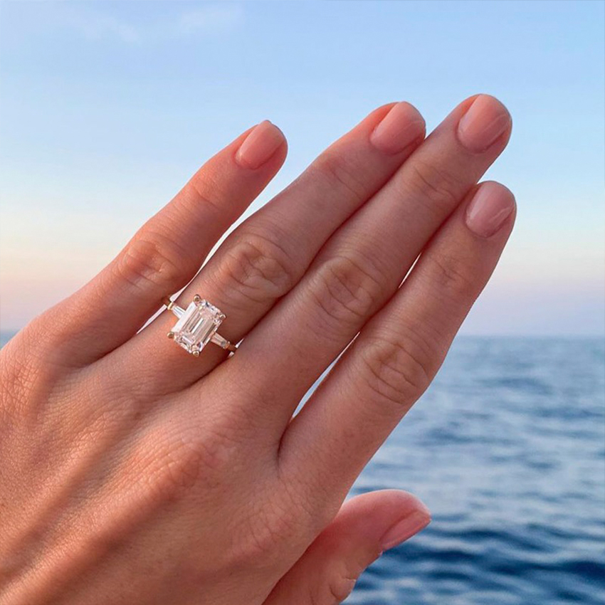Tapered Baguette Diamond Ring Brilliant Earth