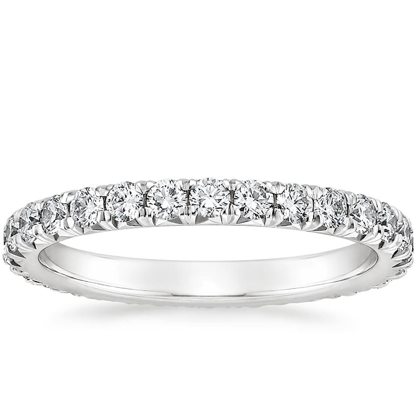18K White Gold Sienna Eternity Diamond Ring (7/8 ct. tw.), top view