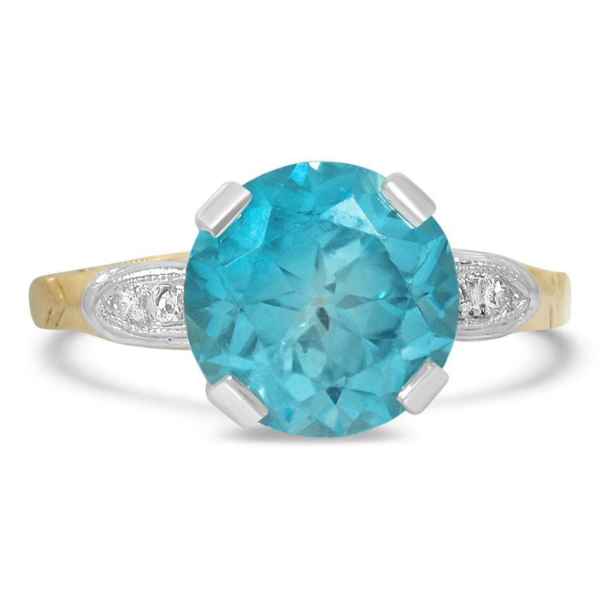 Retro Zircon Cocktail Ring